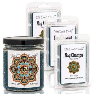Nag Champa 4 pack- melts & candles - Candle Daddy